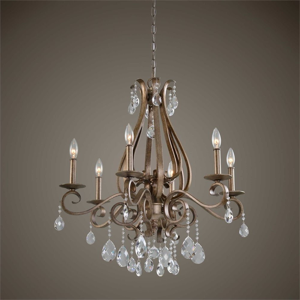 Current Uttermost Siobhan 6 Light Crystal Chandelier (View 3 of 20)