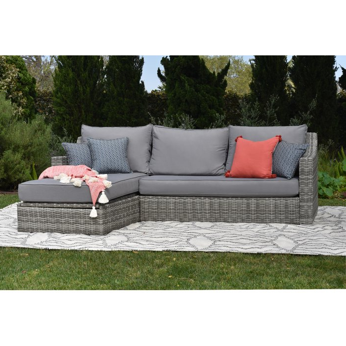 Current Vallauris Sofa With Cushions Inside Vallauris Storage Patio Sectional With Cushions (View 2 of 20)