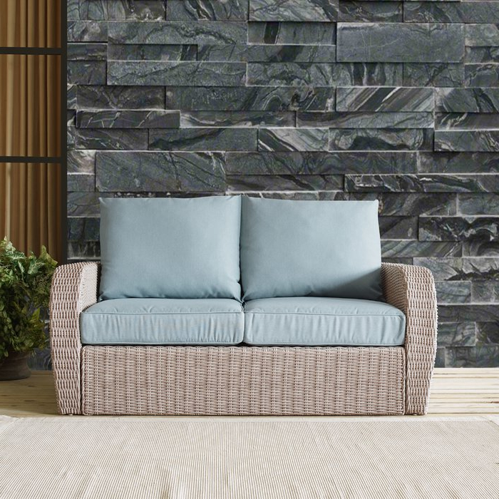 Current Zakrzewski Wicker Loveseat With Cushion Intended For Huddleson Loveseats With Cushion (View 17 of 20)