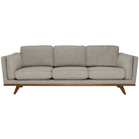 Dahlia 3 Seat Fabric Sofa In Trendy Rowley Patio Sofas Set With Cushions (Gallery 11 of 20)