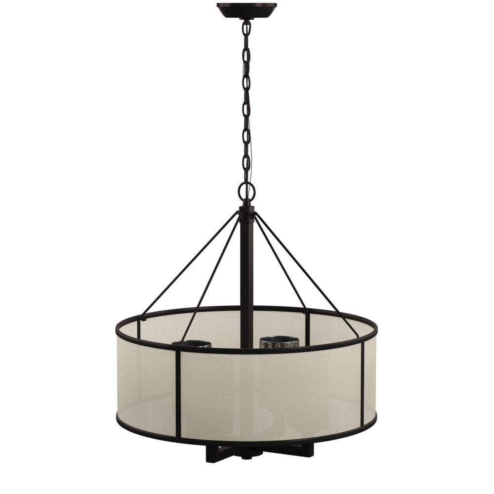 Dailey 4 Light Drum Chandelier Intended For Most Current Dailey 4 Light Drum Chandeliers (Gallery 2 of 20)