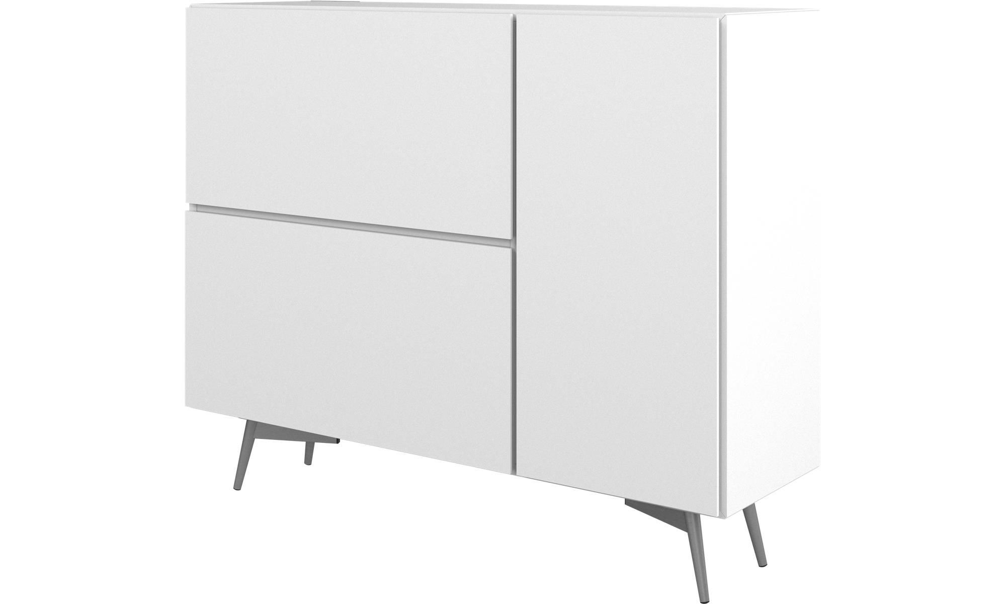 Damian Sideboards Throughout Widely Used Sideboards – Lugano Highboard With Drop Down Doors And (View 8 of 20)