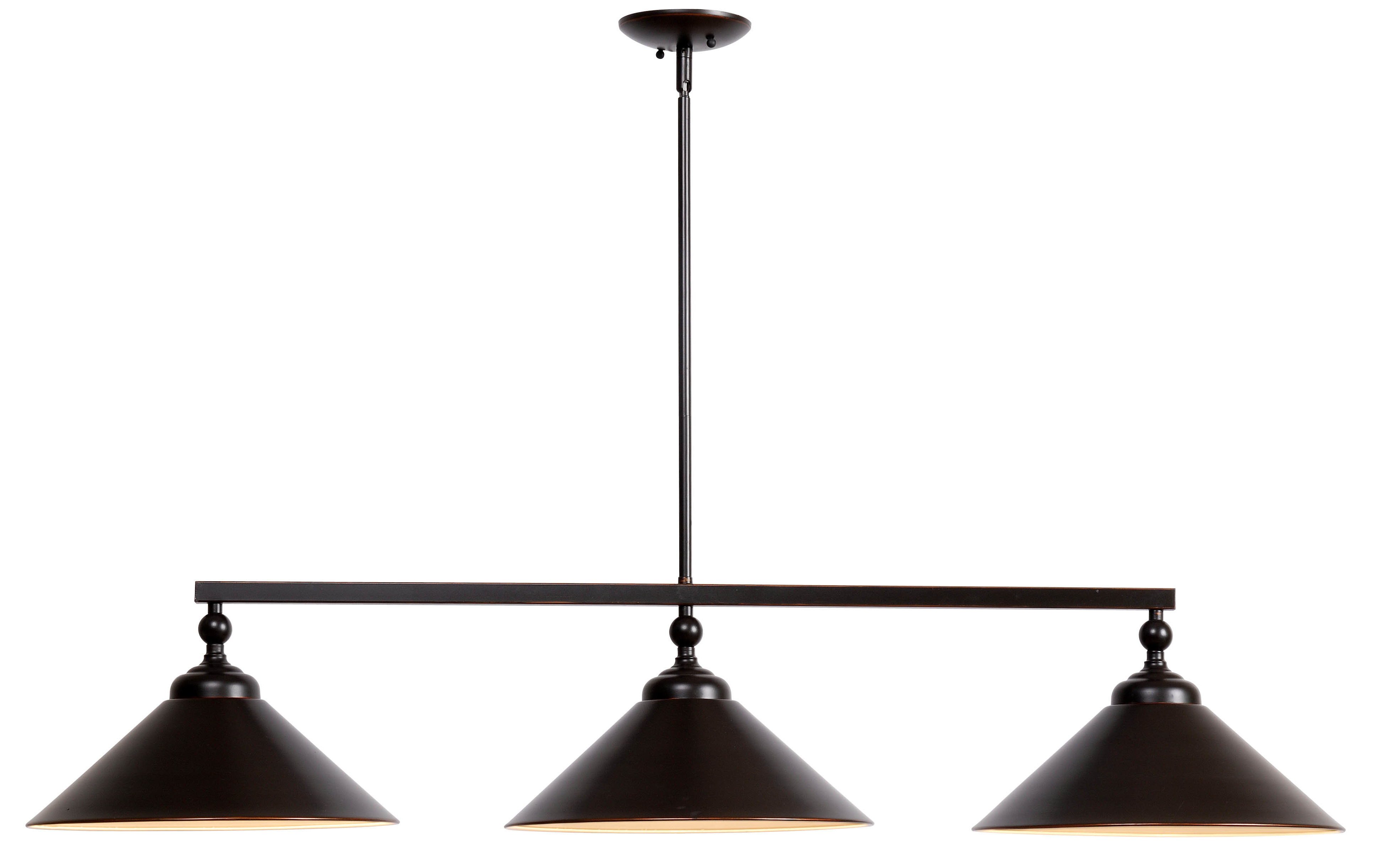 Debra 3 Light Kitchen Island Cone Pendant Intended For Recent Fredela 3 Light Kitchen Island Pendants (View 7 of 20)