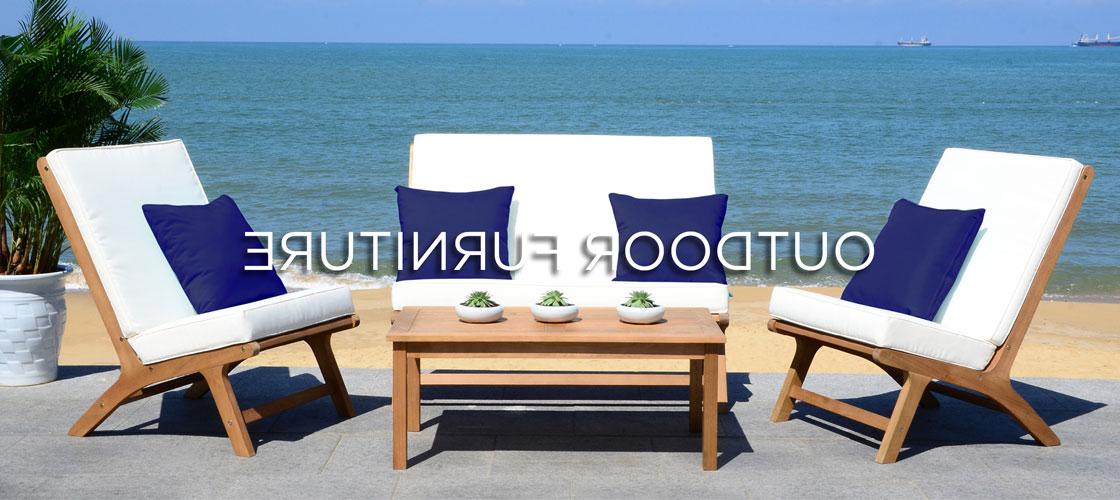 Decorative Home Furnishings – Safavieh Pertaining To Fashionable Lakeland Teak Patio Sofas With Cushions (Gallery 14 of 20)