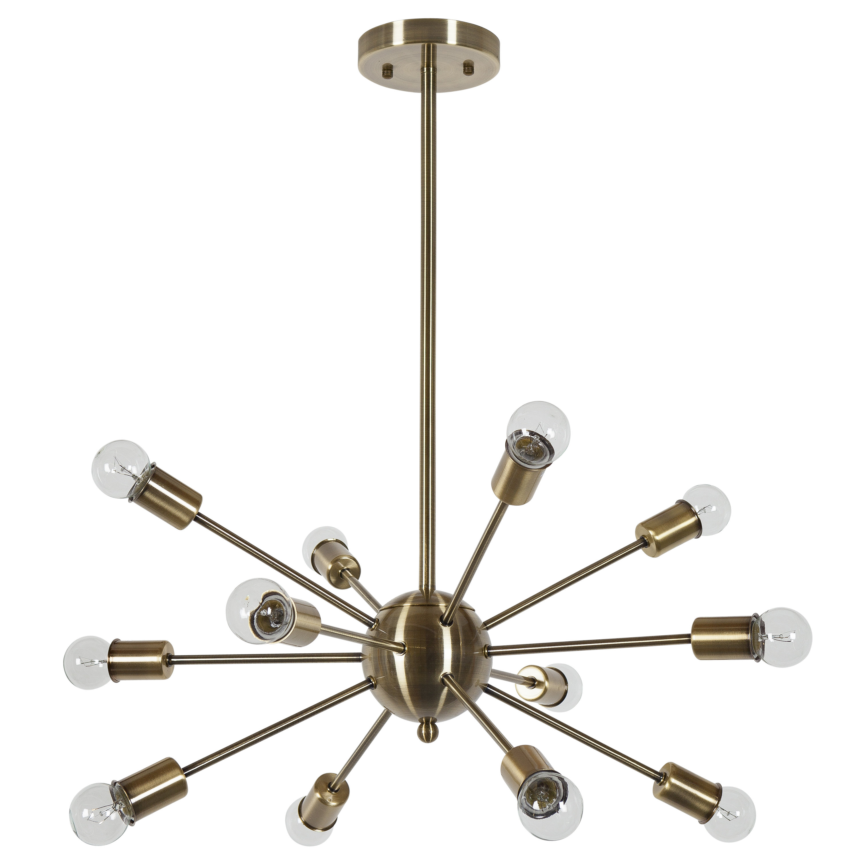 Defreitas 18 Light Sputnik Chandeliers For Best And Newest Vroman 12 Light Sputnik Chandelier (View 10 of 20)