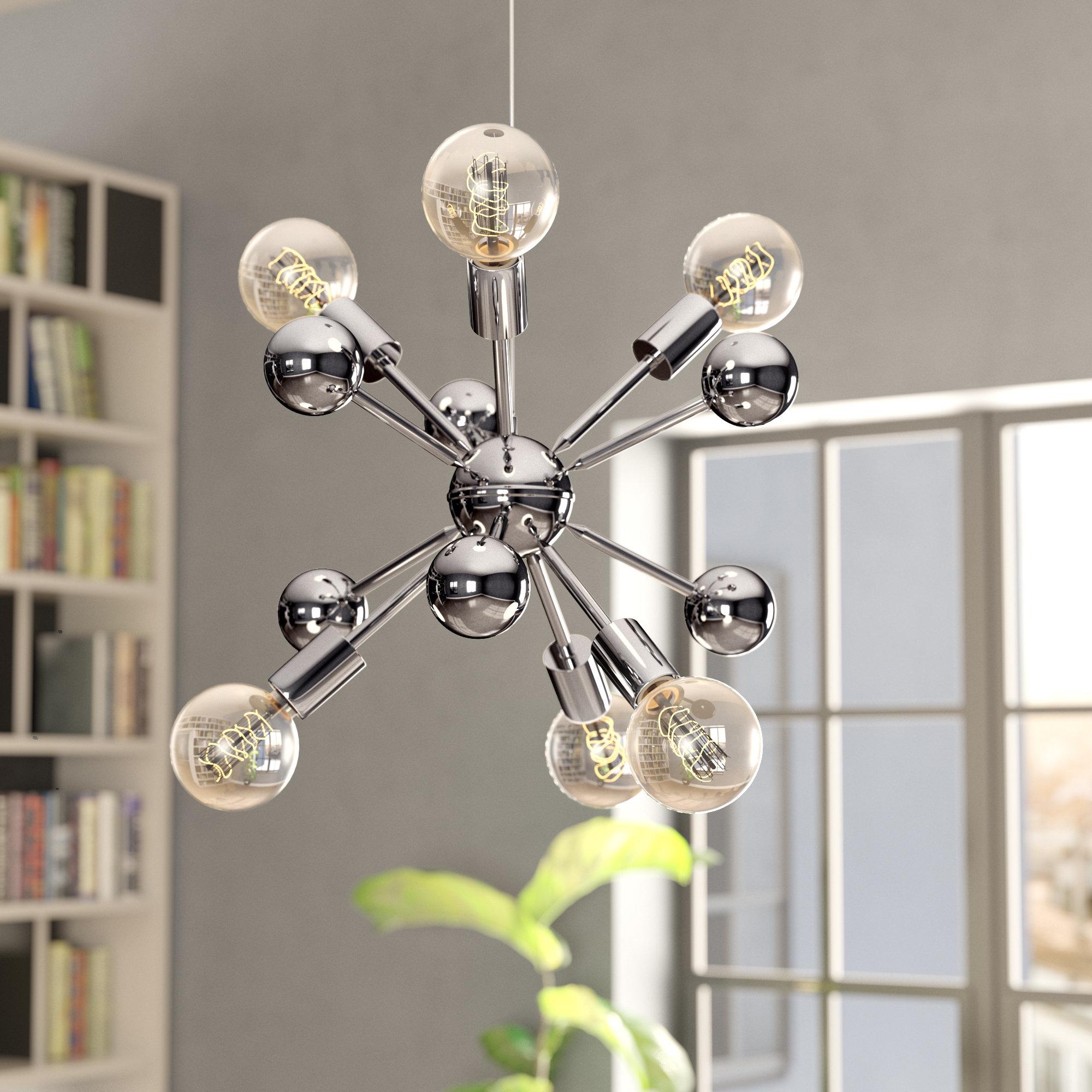 Defreitas 18 Light Sputnik Chandeliers With Fashionable Dorcia 6 Light Sputnik Chandelier (View 20 of 20)