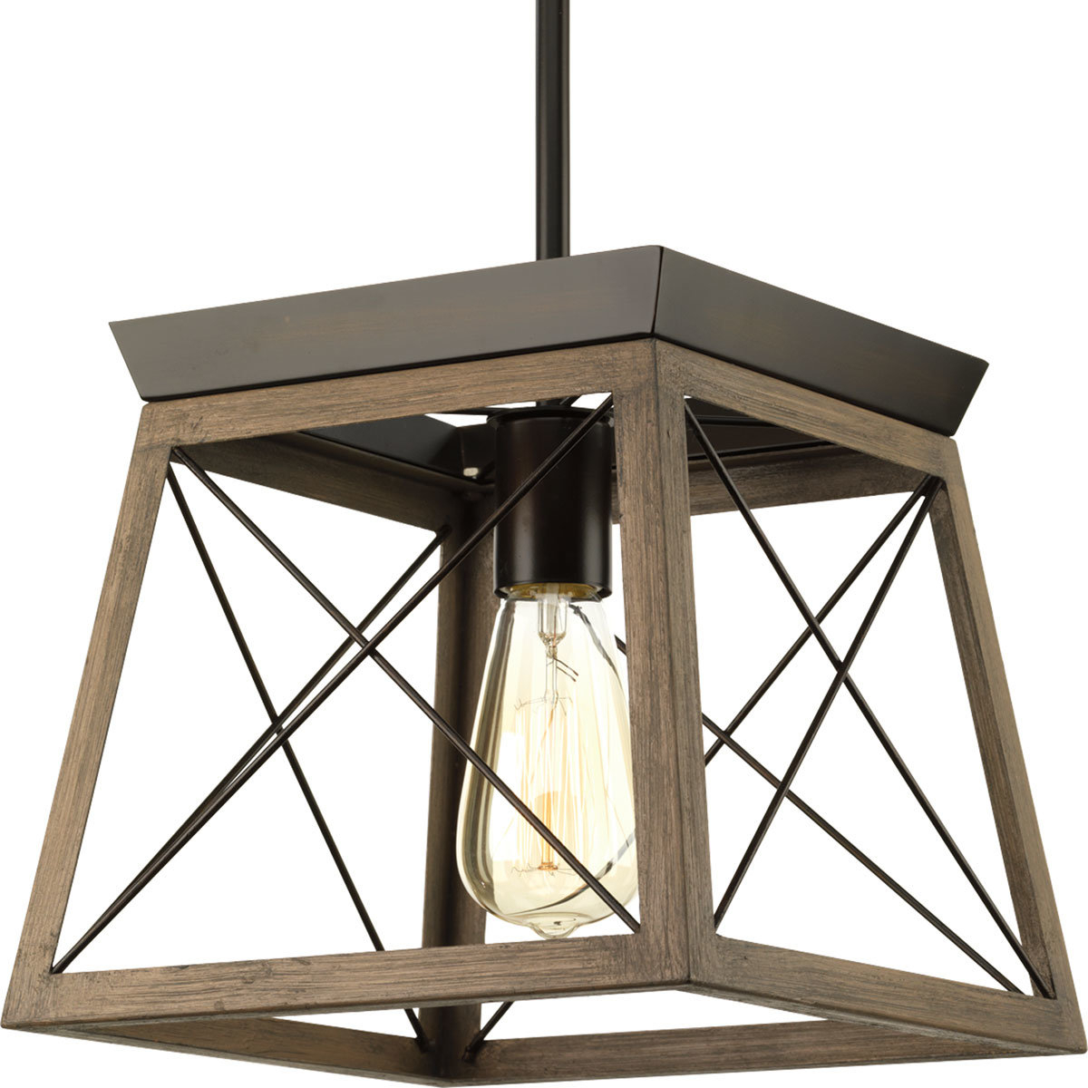 Delon 1 Light Lantern Geometric Pendants Within Widely Used Delon 1 Light Lantern Geometric Pendant (View 7 of 20)