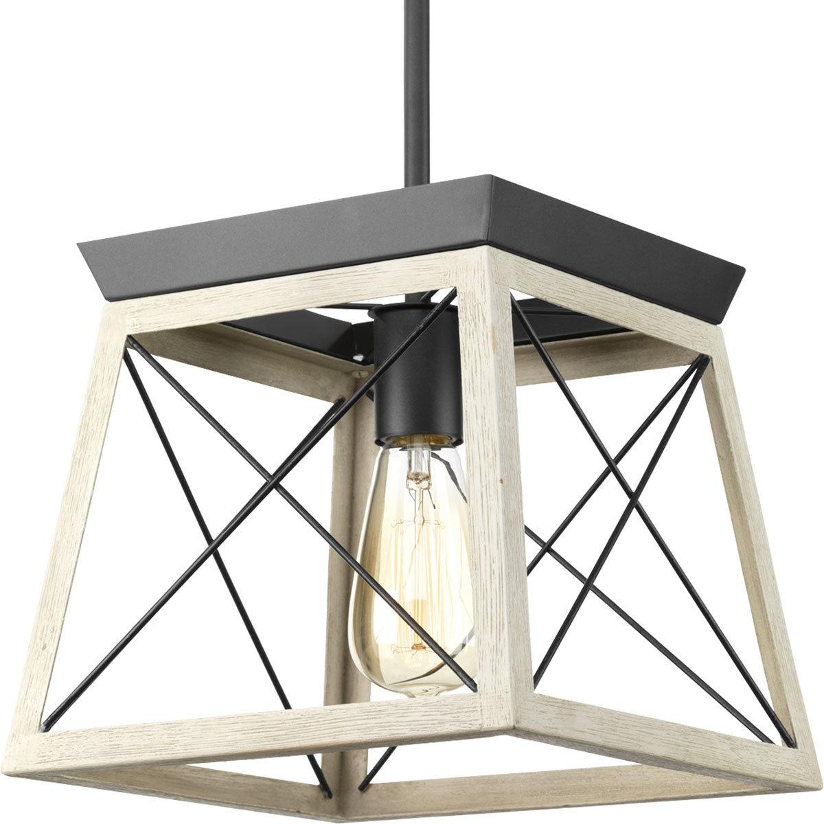 Delon 1 Light Lantern Pendant In Most Current Louanne 1 Light Lantern Geometric Pendants (View 16 of 20)