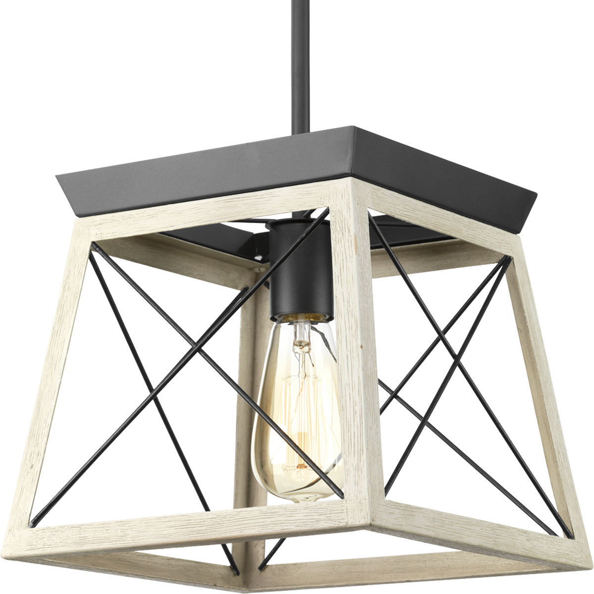 Delon 1 Light Lantern Pendant Intended For Trendy Delon 1 Light Lantern Geometric Pendants (Gallery 5 of 20)