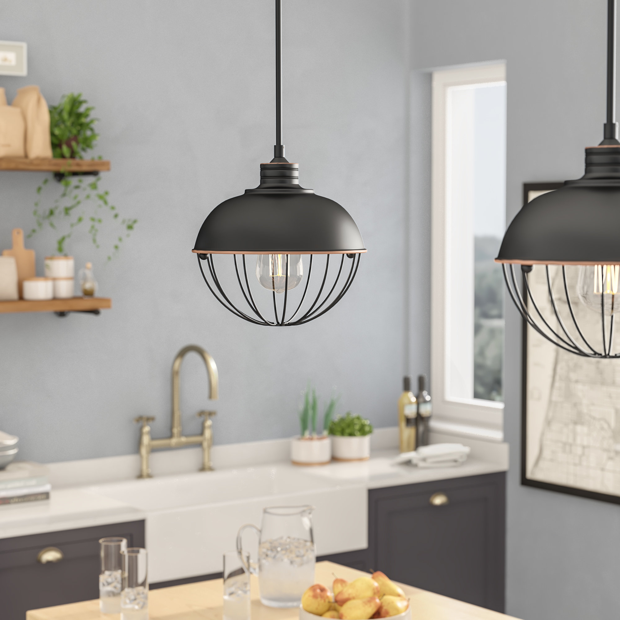 Demi Vintage Edison 1 Light Pendant Within Most Recent Demi 1 Light Globe Pendants (View 3 of 20)