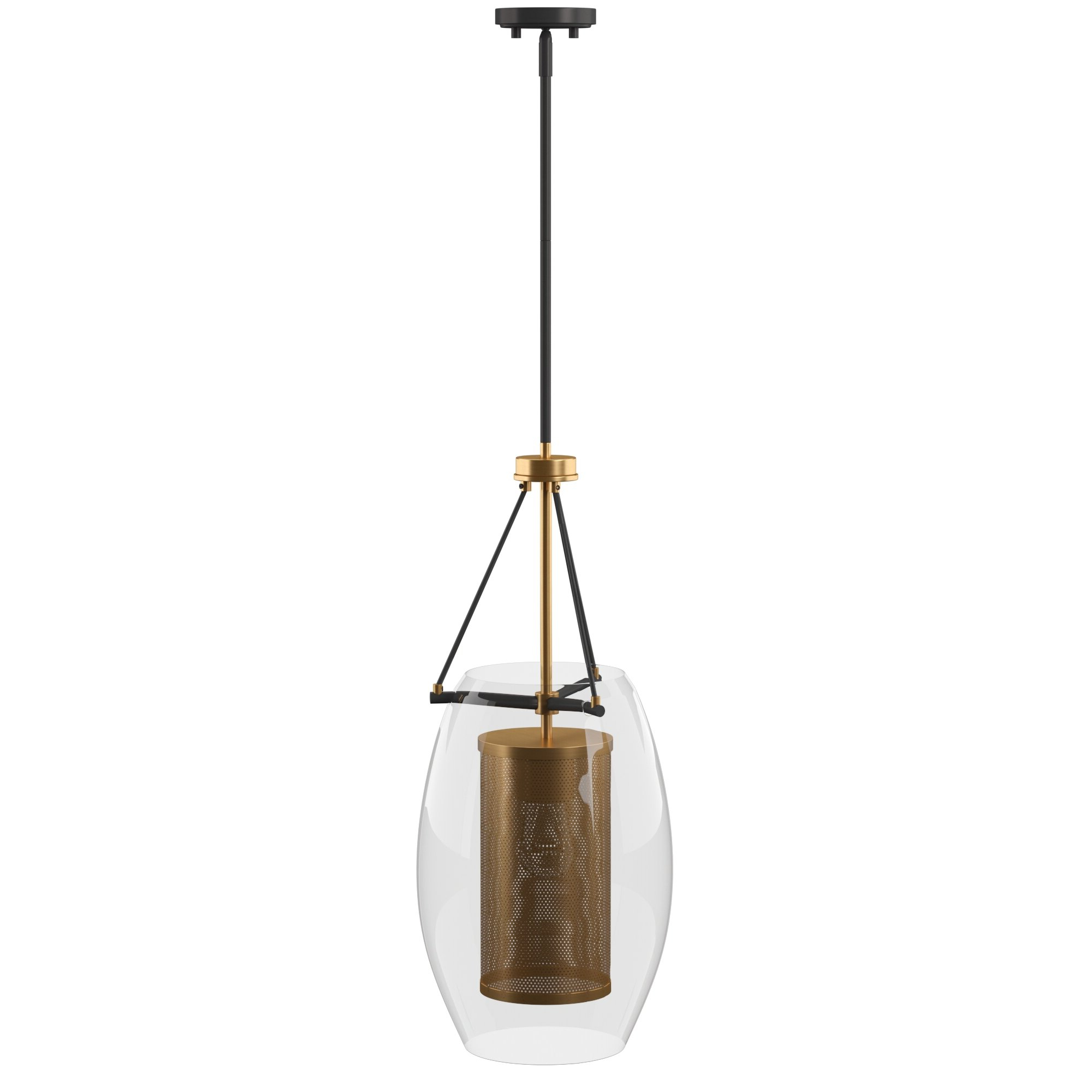 Depp 1 Light Single Cylinder Pendant Pertaining To Recent Houon 1 Light Cone Bell Pendants (Gallery 15 of 20)