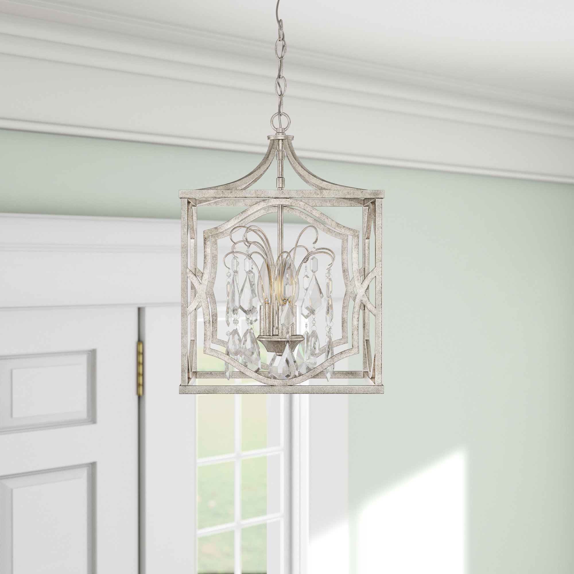 Destrey 3 Light Lantern Pendant Inside 2020 Destrey 3 Light Lantern Square/rectangle Pendants (Gallery 7 of 20)