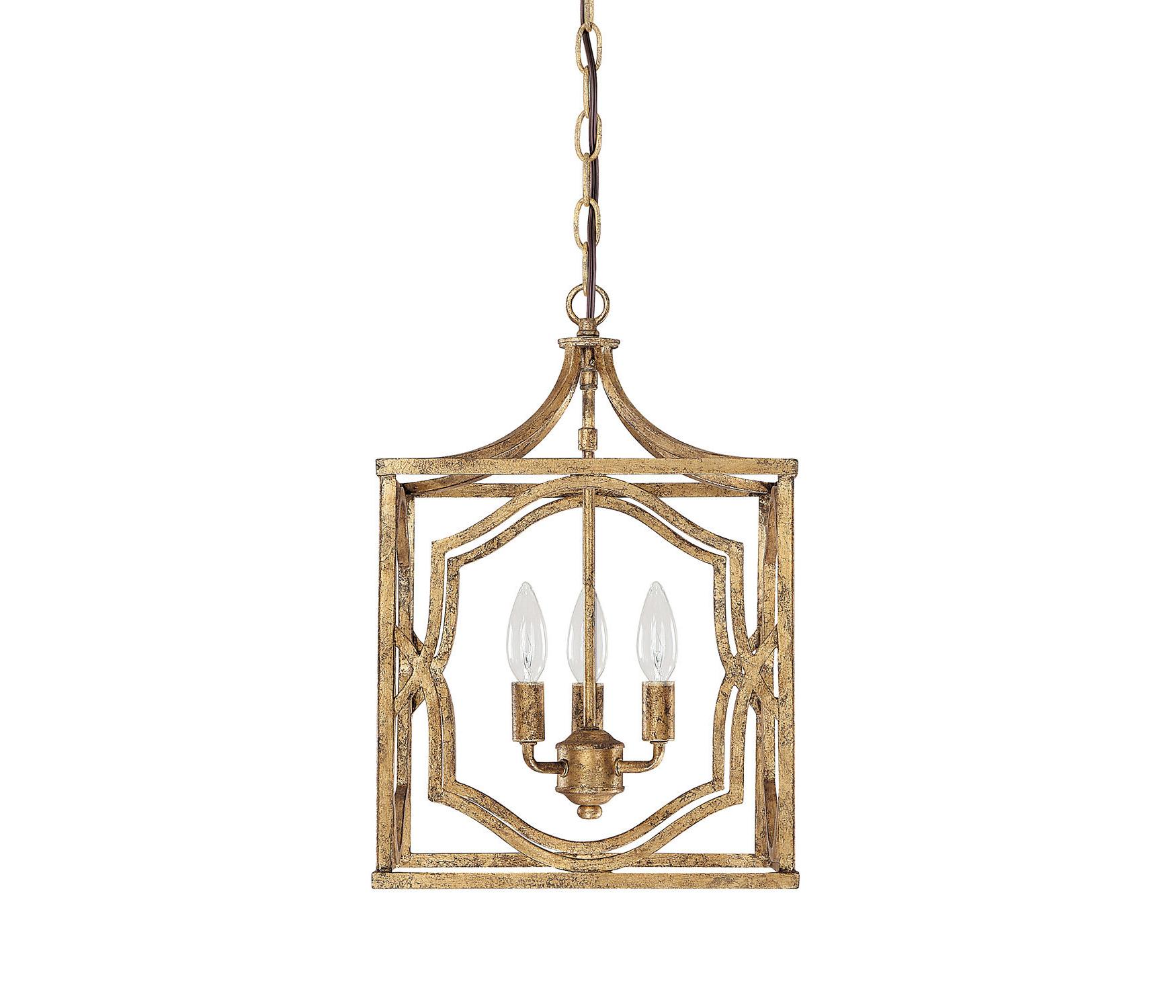 Destrey 3 Light Lantern Square/rectangle Pendant For Widely Used Destrey 3 Light Lantern Square/rectangle Pendants (Gallery 4 of 20)