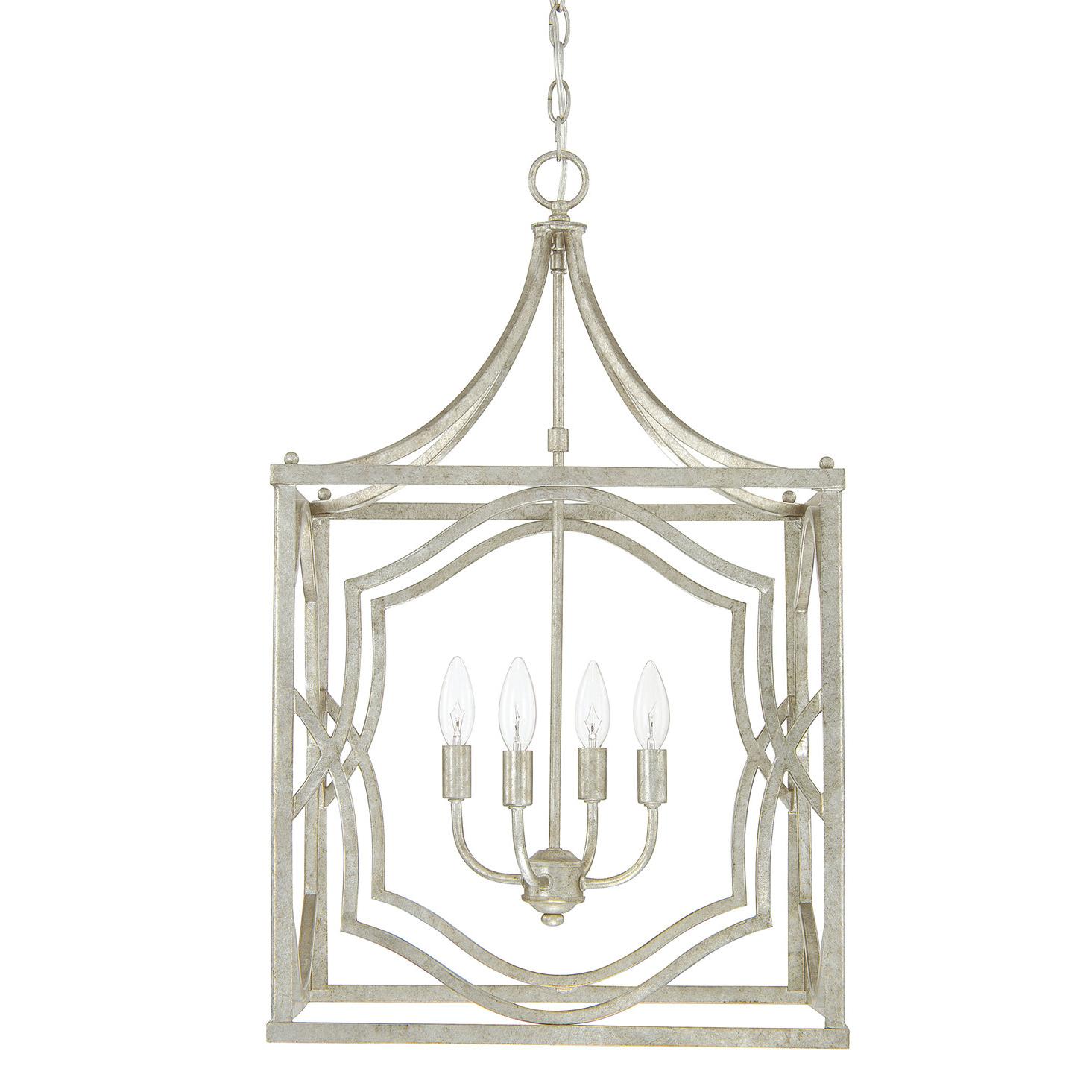 Destrey 4 Light Lantern Pendant Within 2019 Destrey 3 Light Lantern Square/rectangle Pendants (Gallery 5 of 20)