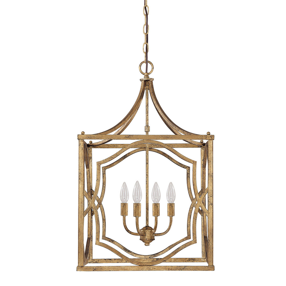 Destrey 4 Light Lantern Square / Rectangle Pendant With Trendy Taya 4 Light Lantern Square Pendants (Gallery 1 of 20)