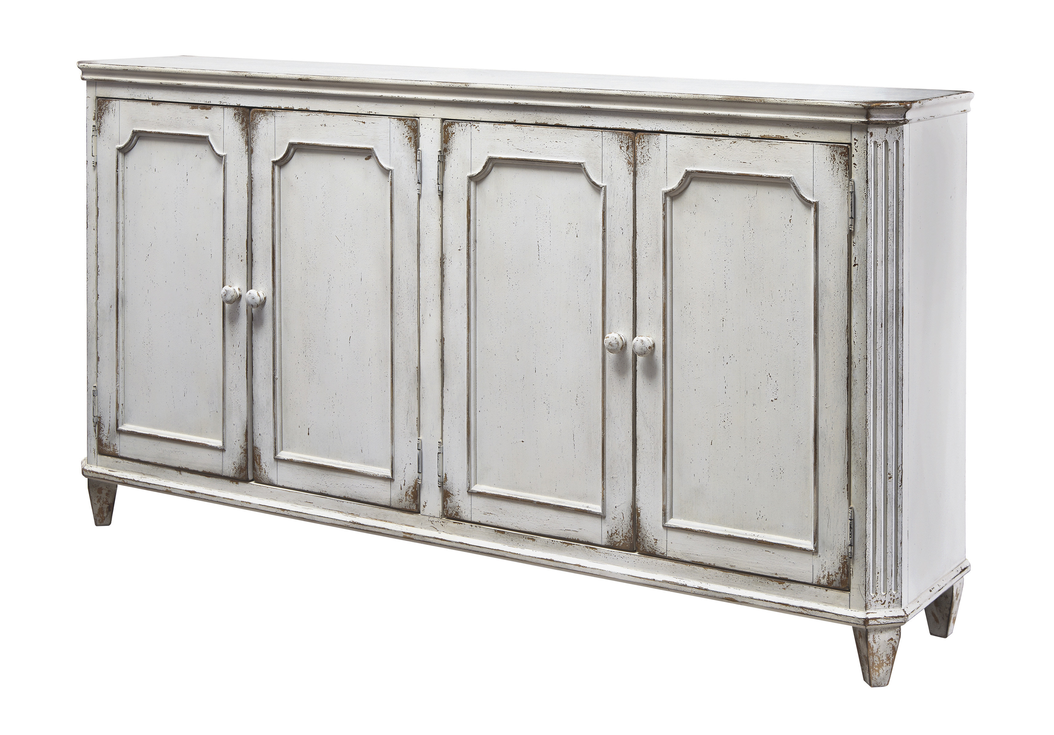 Deville Russelle Sideboards Throughout 2020 Nilles 4 Door Accent Cabinet & Reviews (View 8 of 20)