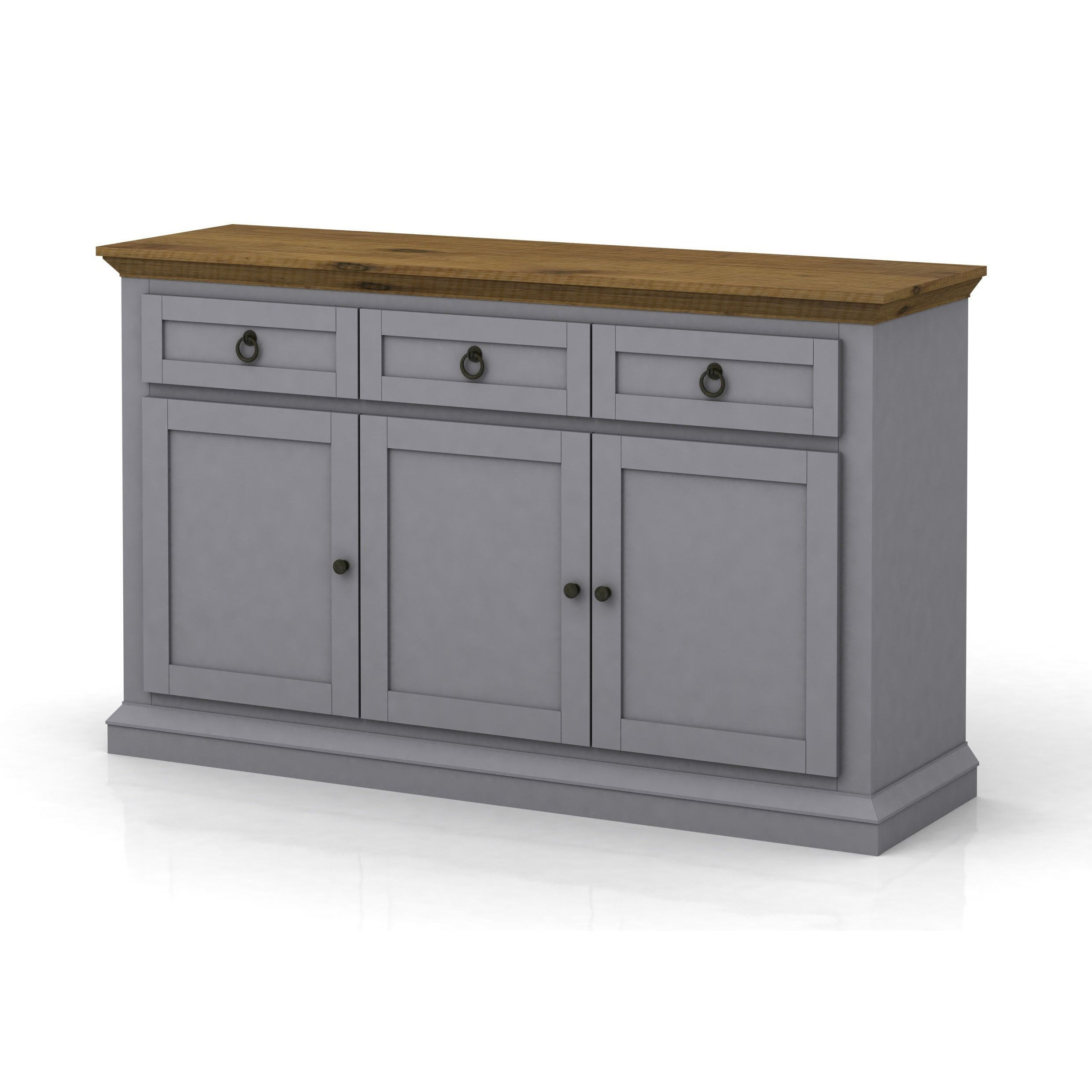 Dg Casa Annabelle Grey And Cottage Oak Buffet (Buffets Pertaining To Famous Courtdale Sideboards (View 8 of 20)
