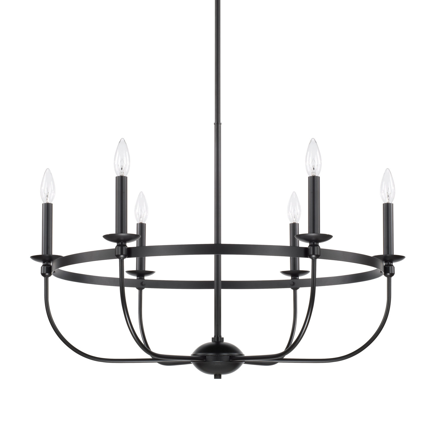 Diaz 6 Light Candle Style Chandeliers Intended For Best And Newest Gracie Oaks Claughaun 6 Light Candle Style Chandelier (View 3 of 20)