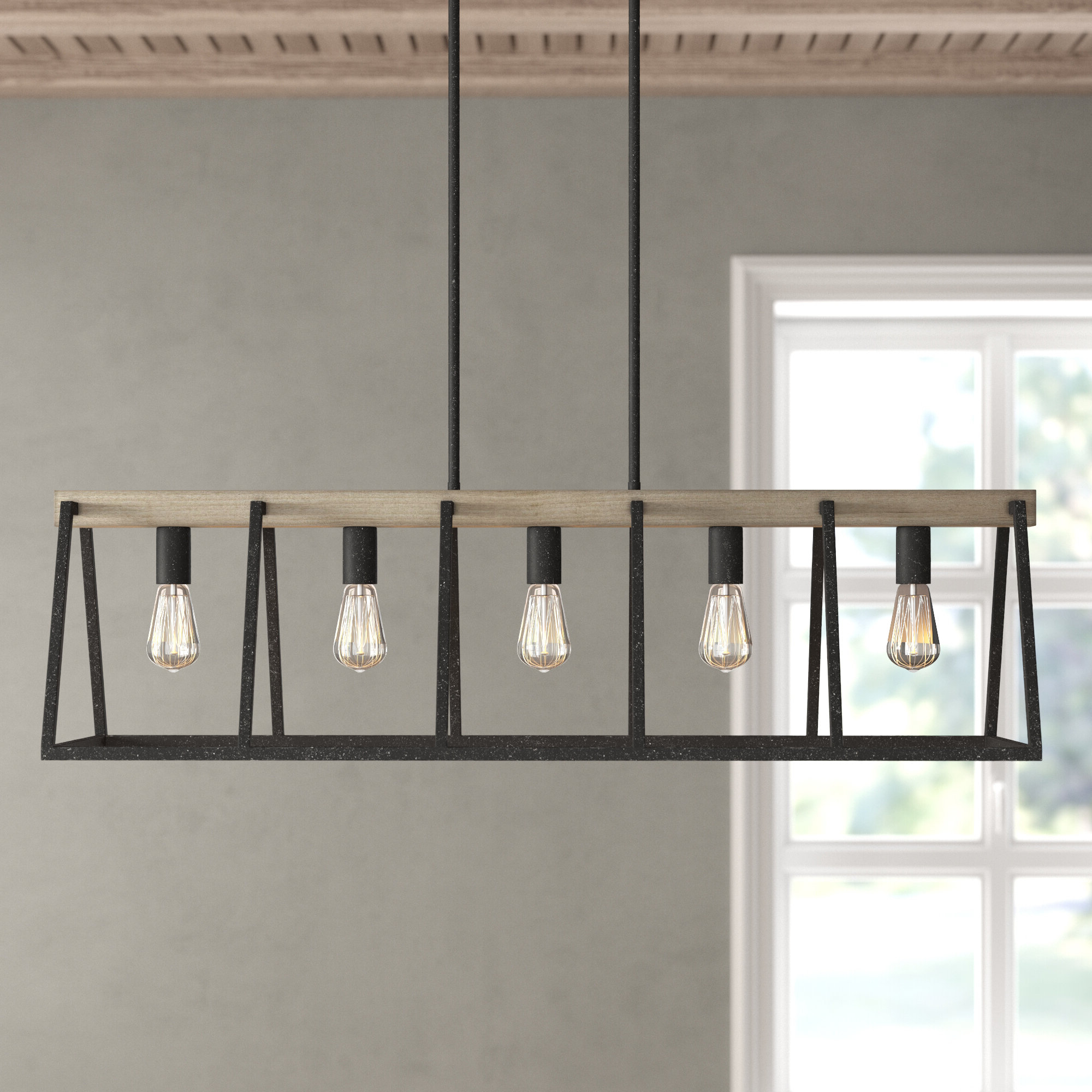 Dillman 5 Light Kitchen Island Linear Pendant In Most Recently Released Freemont 5 Light Kitchen Island Linear Chandeliers (Gallery 16 of 20)