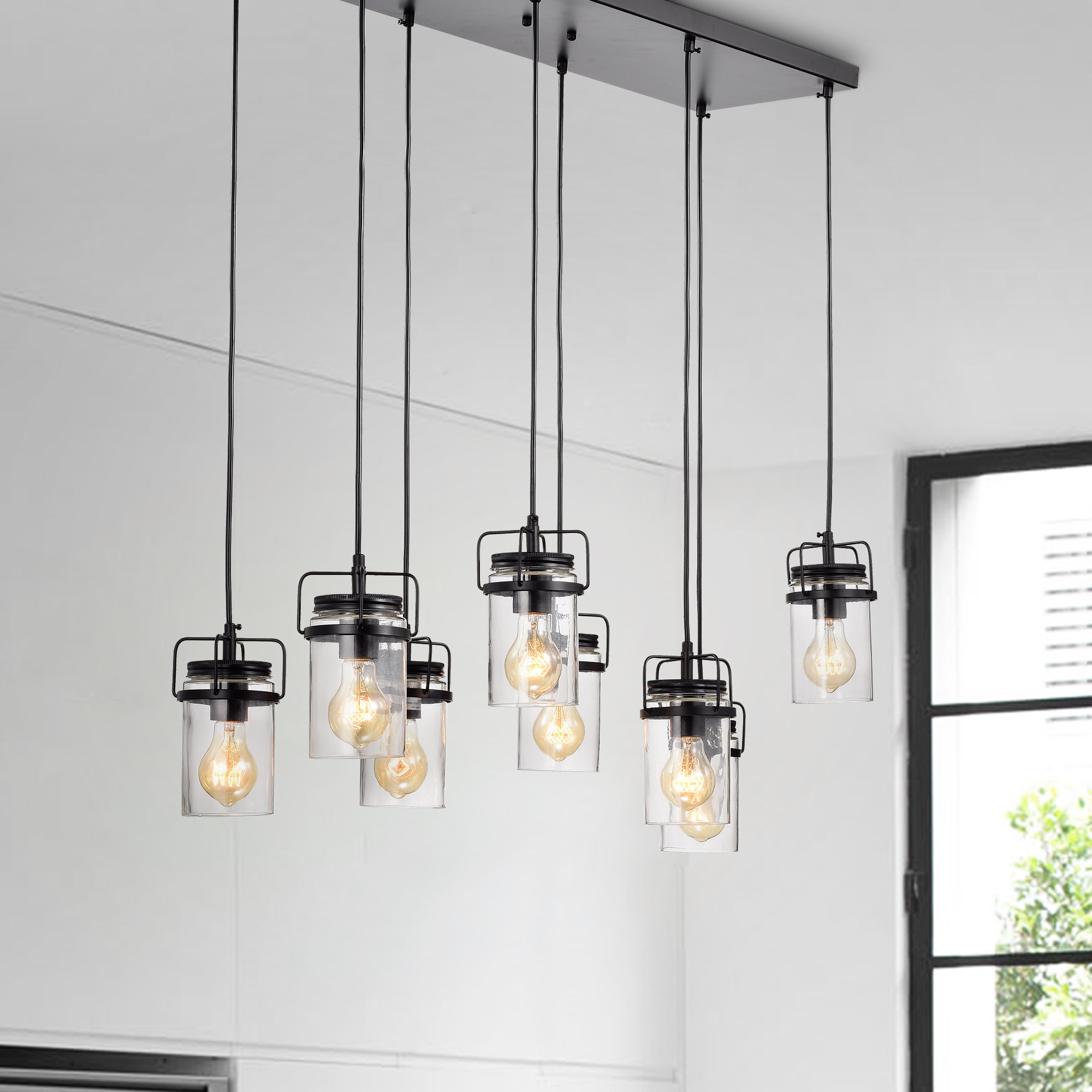 Donald 8 Light Cluster Pendant With Popular Pruett Cognac Glass 8 Light Cluster Pendants (View 2 of 20)
