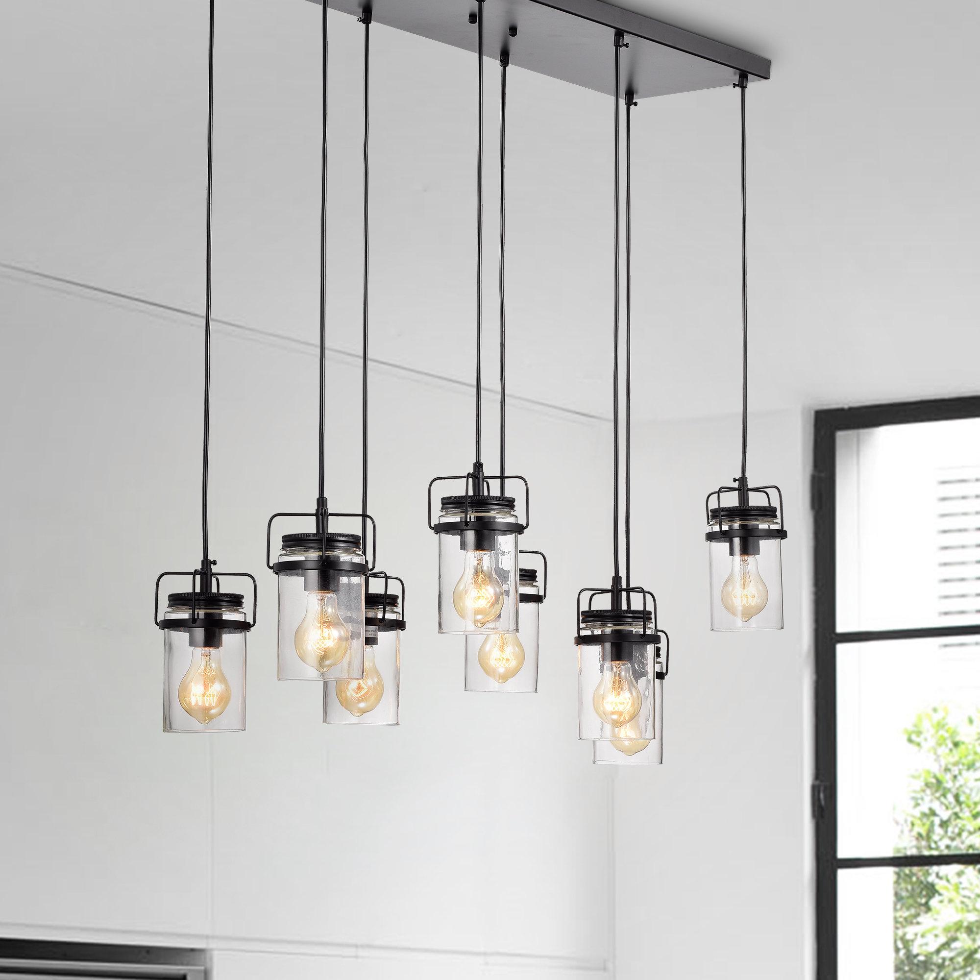 Donald 8 Light Cluster Pendant With Popular Pruett Cognac Glass 8 Light Cluster Pendants (View 2 of 20)