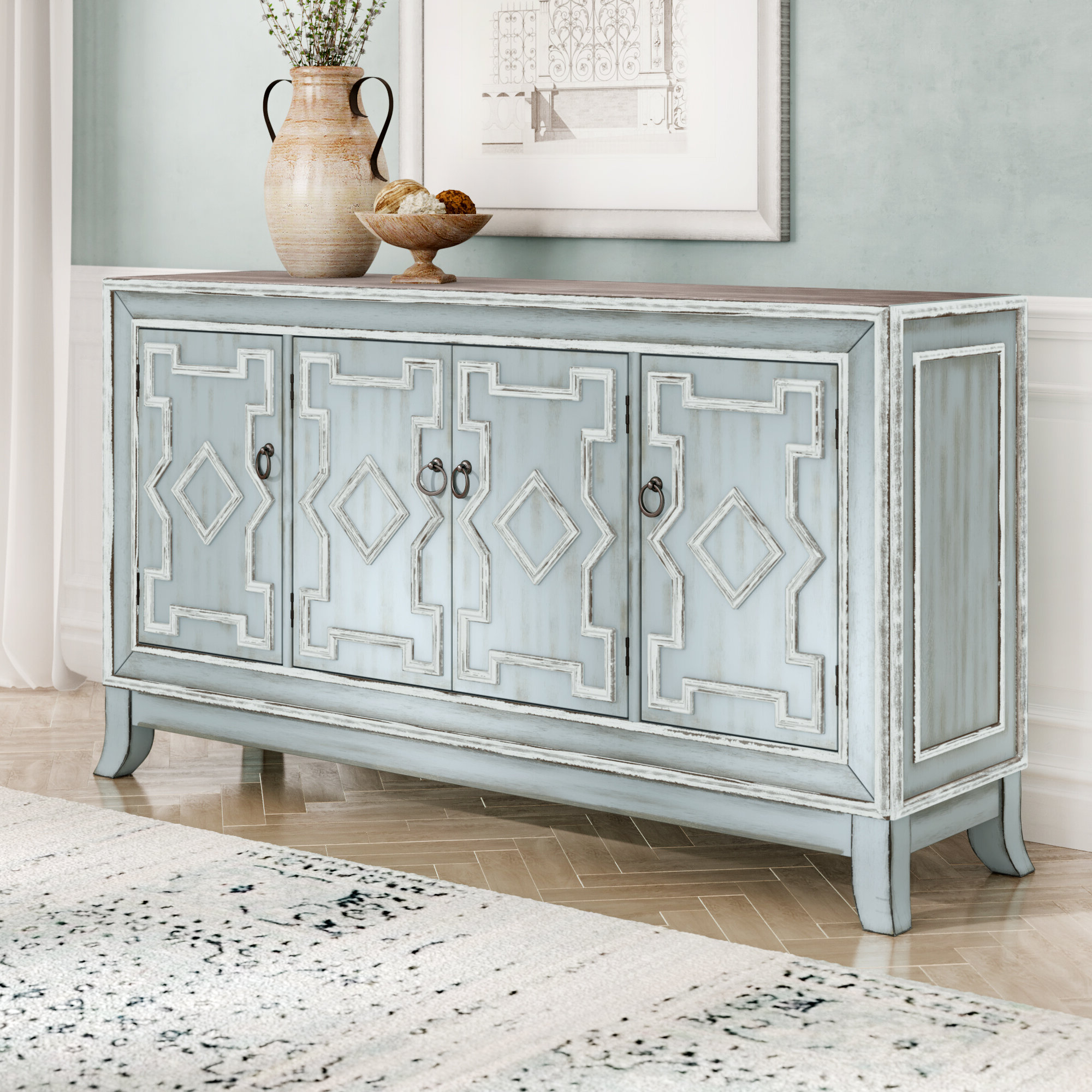 Donelson Sideboard Pertaining To Well Known Ethelinda Media Credenzas (View 7 of 20)