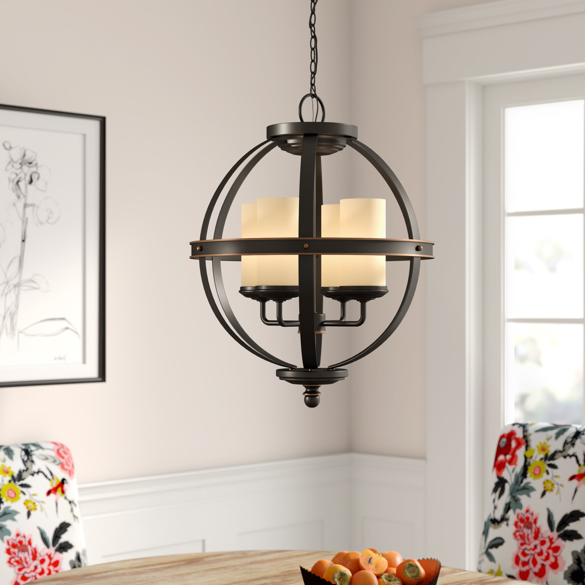 Donna 4 Light Globe Chandelier Pertaining To Preferred Donna 4 Light Globe Chandeliers (View 4 of 20)