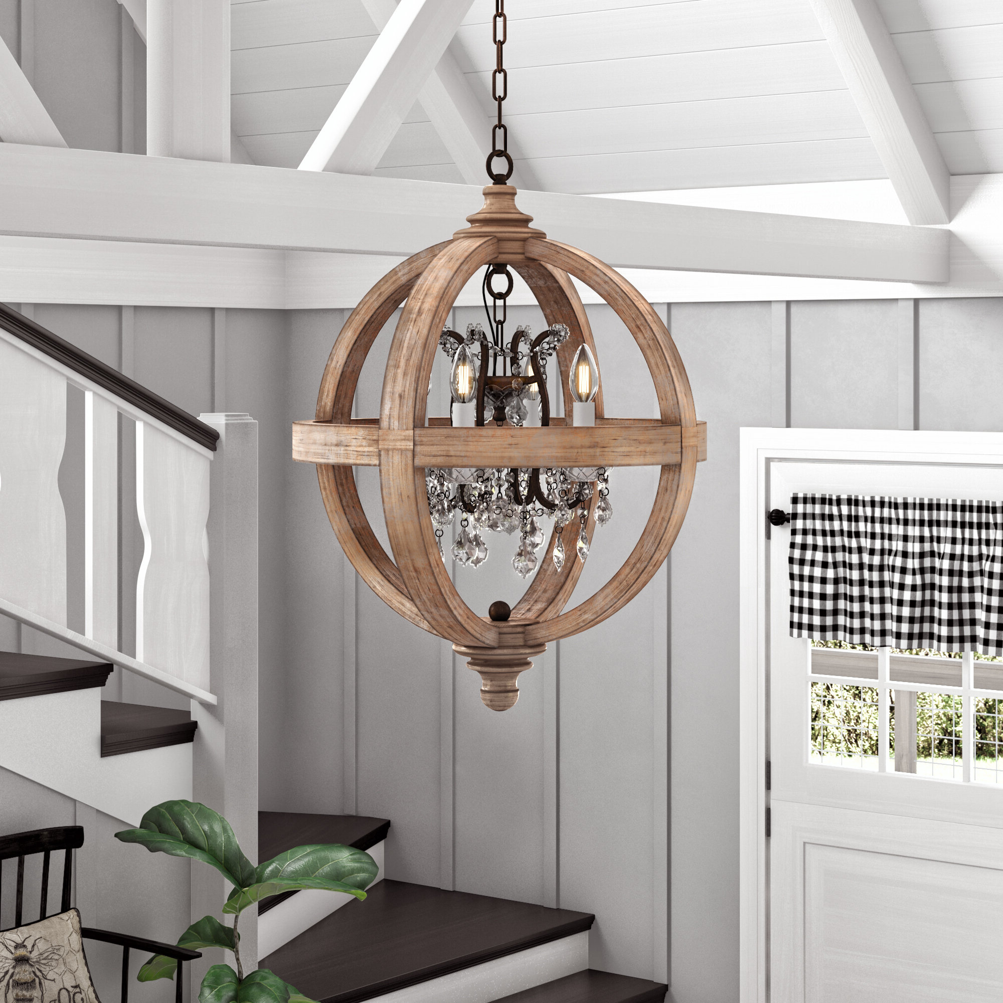 Donna 4 Light Globe Chandeliers Pertaining To Recent Montecito 4 Light Globe Chandelier (View 7 of 20)