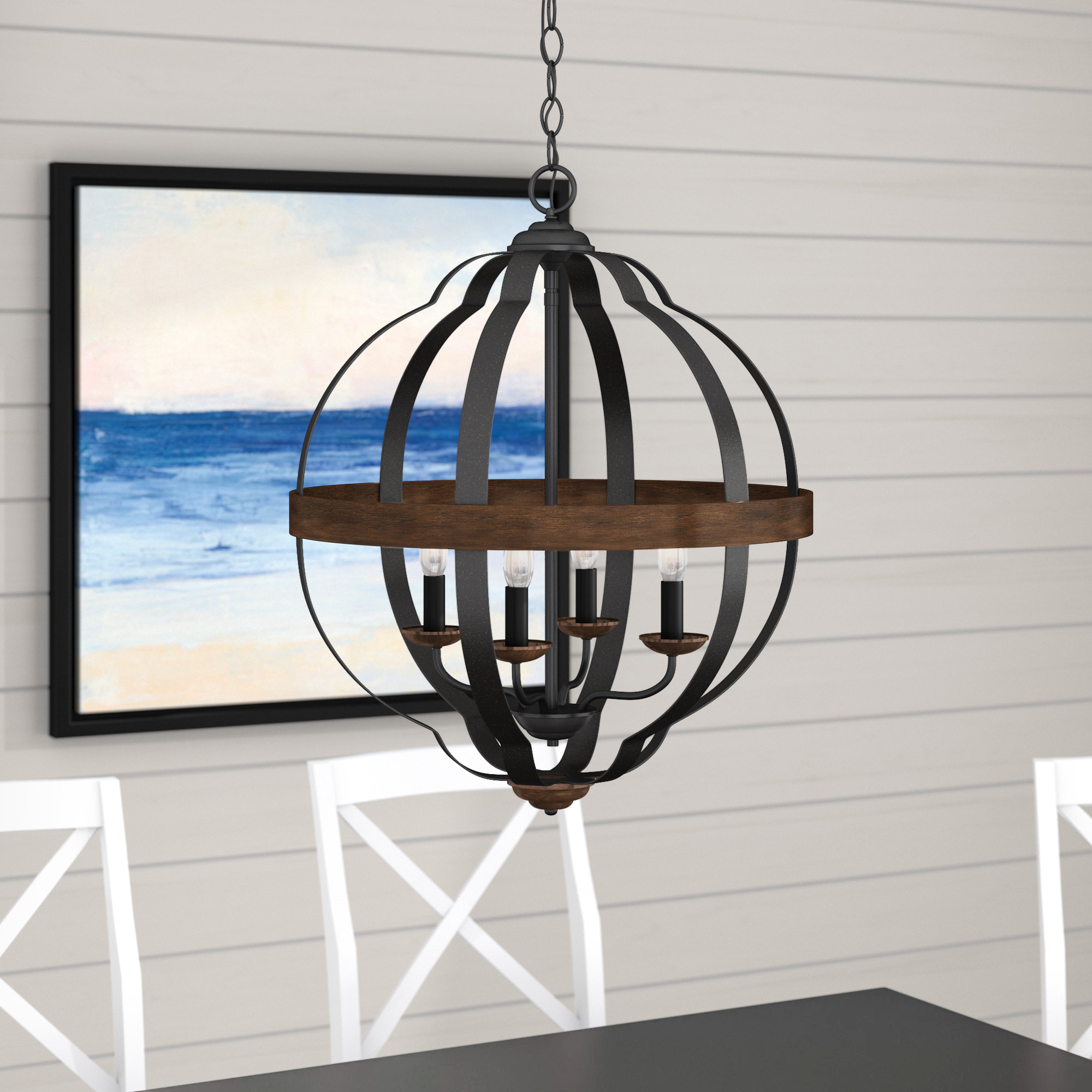 Donna 4 Light Globe Chandeliers Throughout Famous Ingrid 4 Light Globe Chandelier (View 8 of 20)