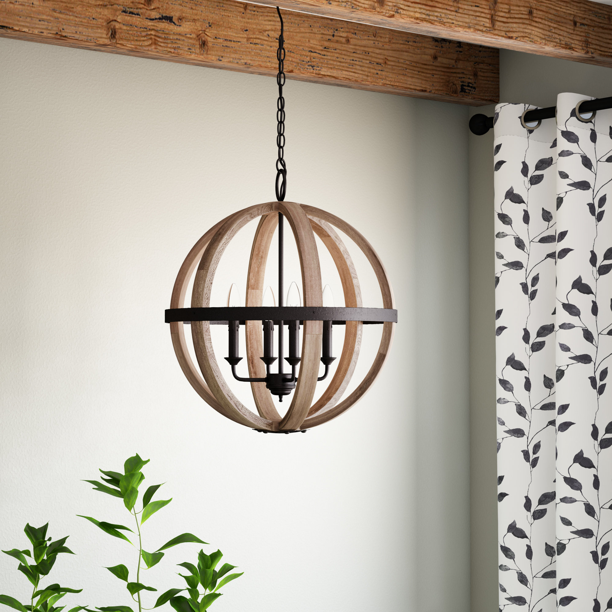 Donna 4 Light Globe Chandeliers With Fashionable Caley 4 Light Globe Chandelier (Gallery 9 of 20)