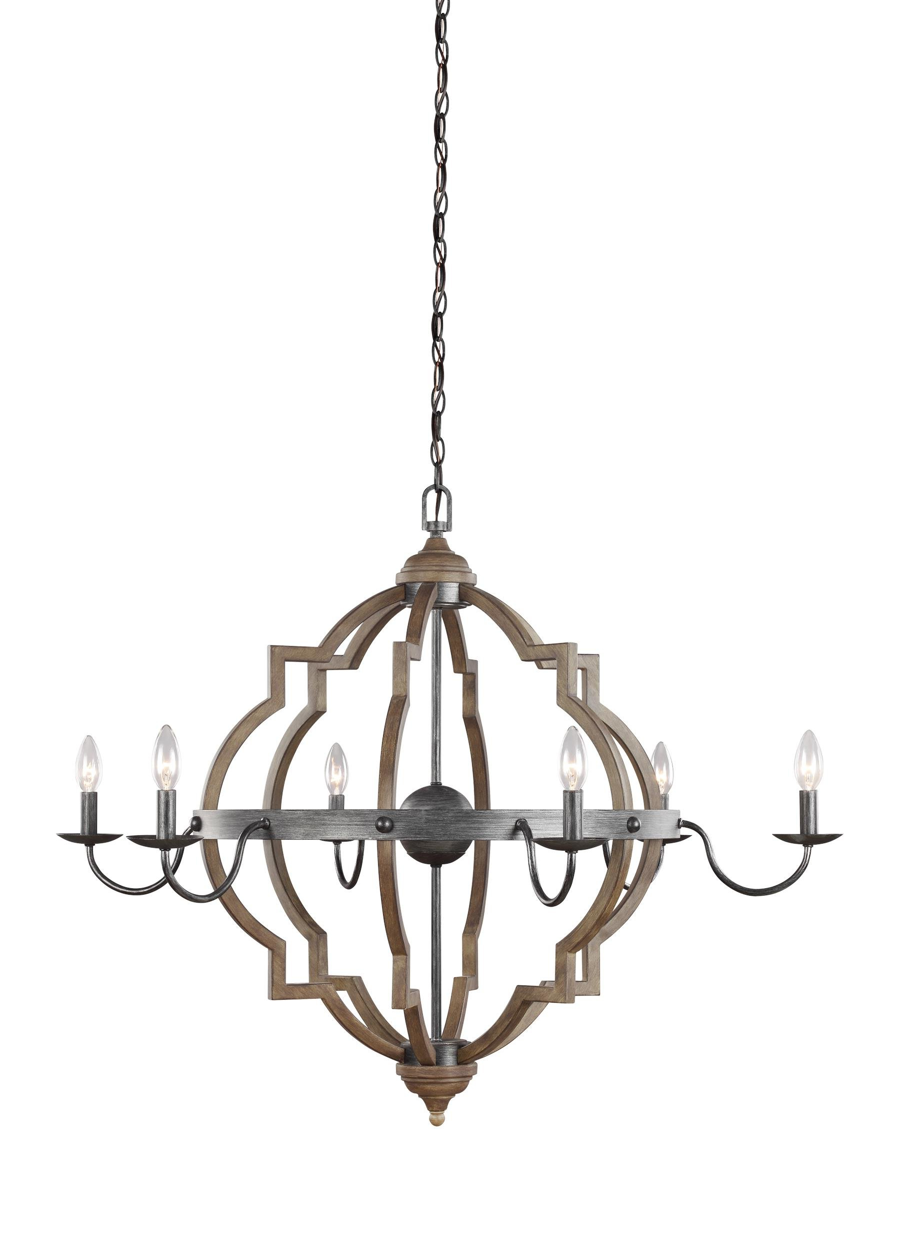 Donna 6 Light Candle Style Chandelier For Recent Bennington 6 Light Candle Style Chandeliers (Gallery 4 of 20)