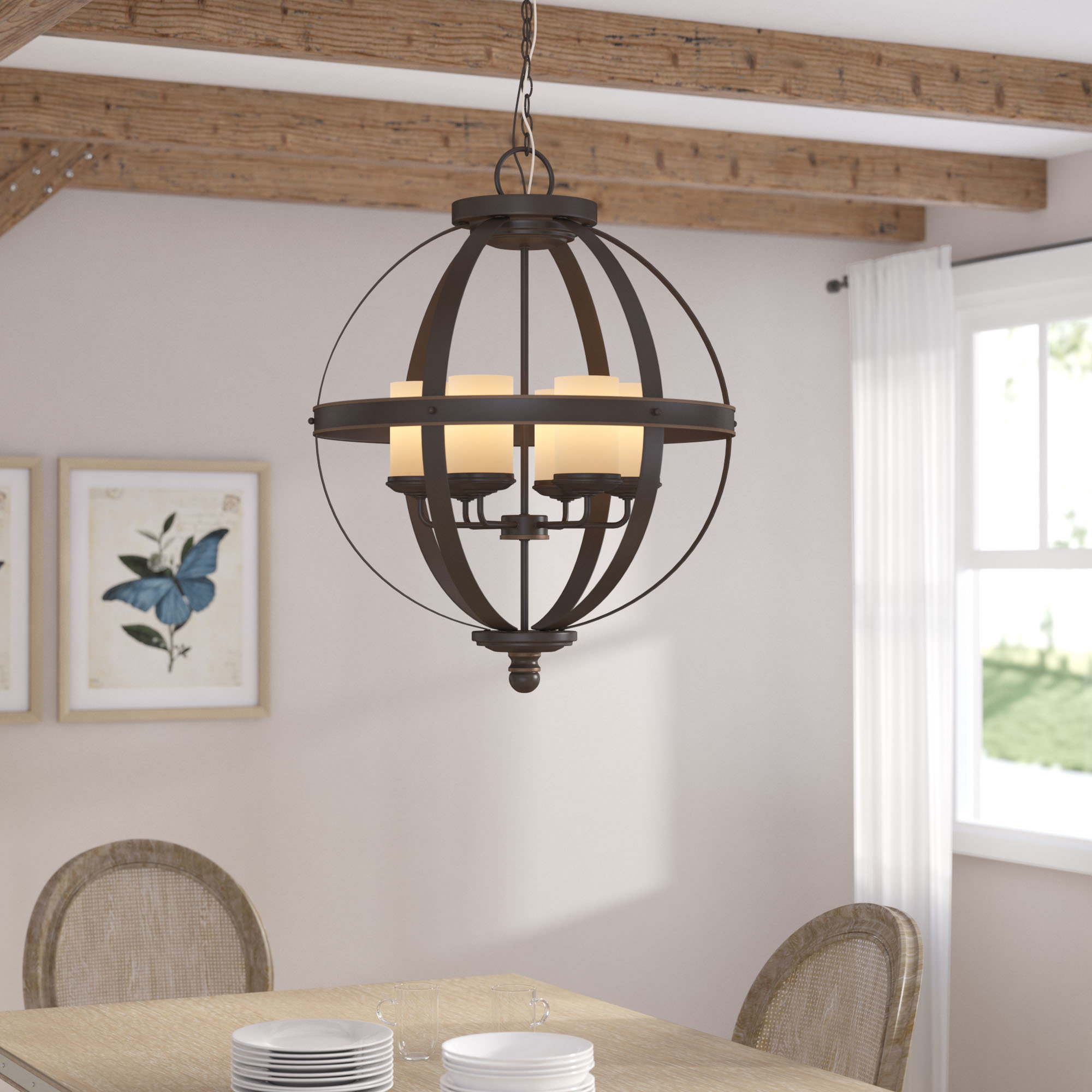 Donna 6 Light Globe Chandelier Pertaining To Most Recently Released Donna 6 Light Globe Chandeliers (View 9 of 20)