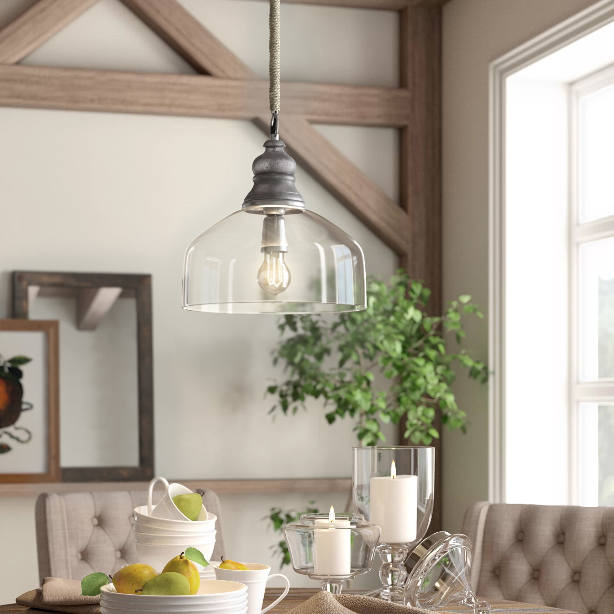 Dorothea 1 Light Single Dome Pendant Intended For 2019 Nolan 1 Light Single Cylinder Pendants (Gallery 9 of 20)