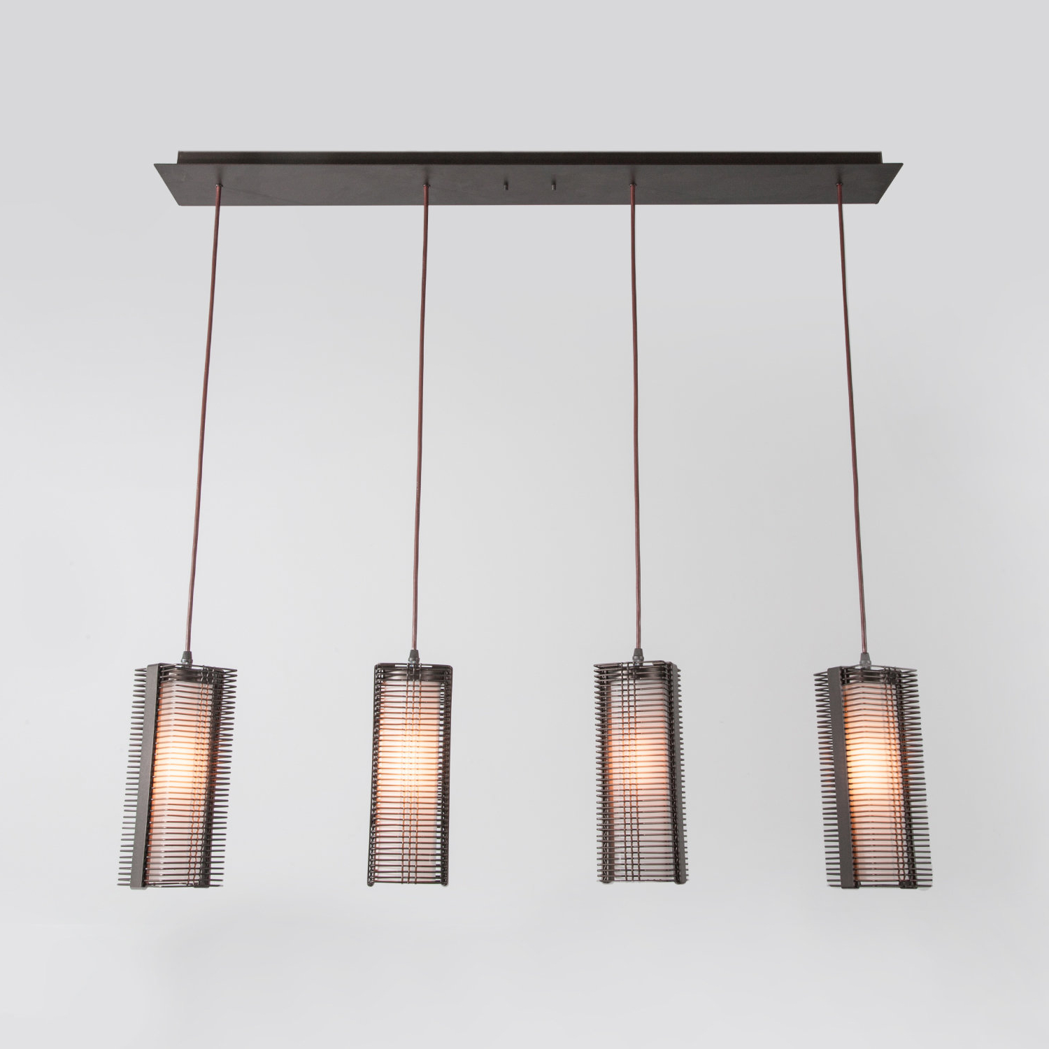 Downtown Mesh 4 Light Kitchen Island Pendant With Regard To Preferred Schutt 4 Light Kitchen Island Pendants (Gallery 1 of 20)