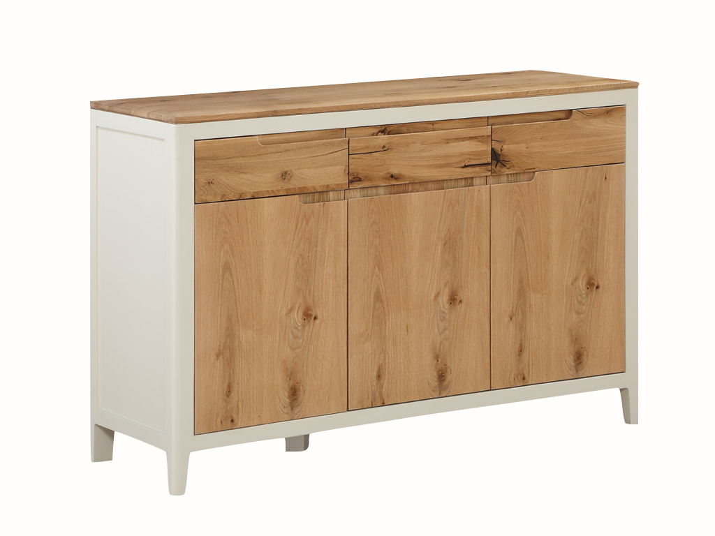 Dunkirk Painted 3 Door Sideboard Pertaining To Fashionable Phyllis Sideboards (Gallery 20 of 20)