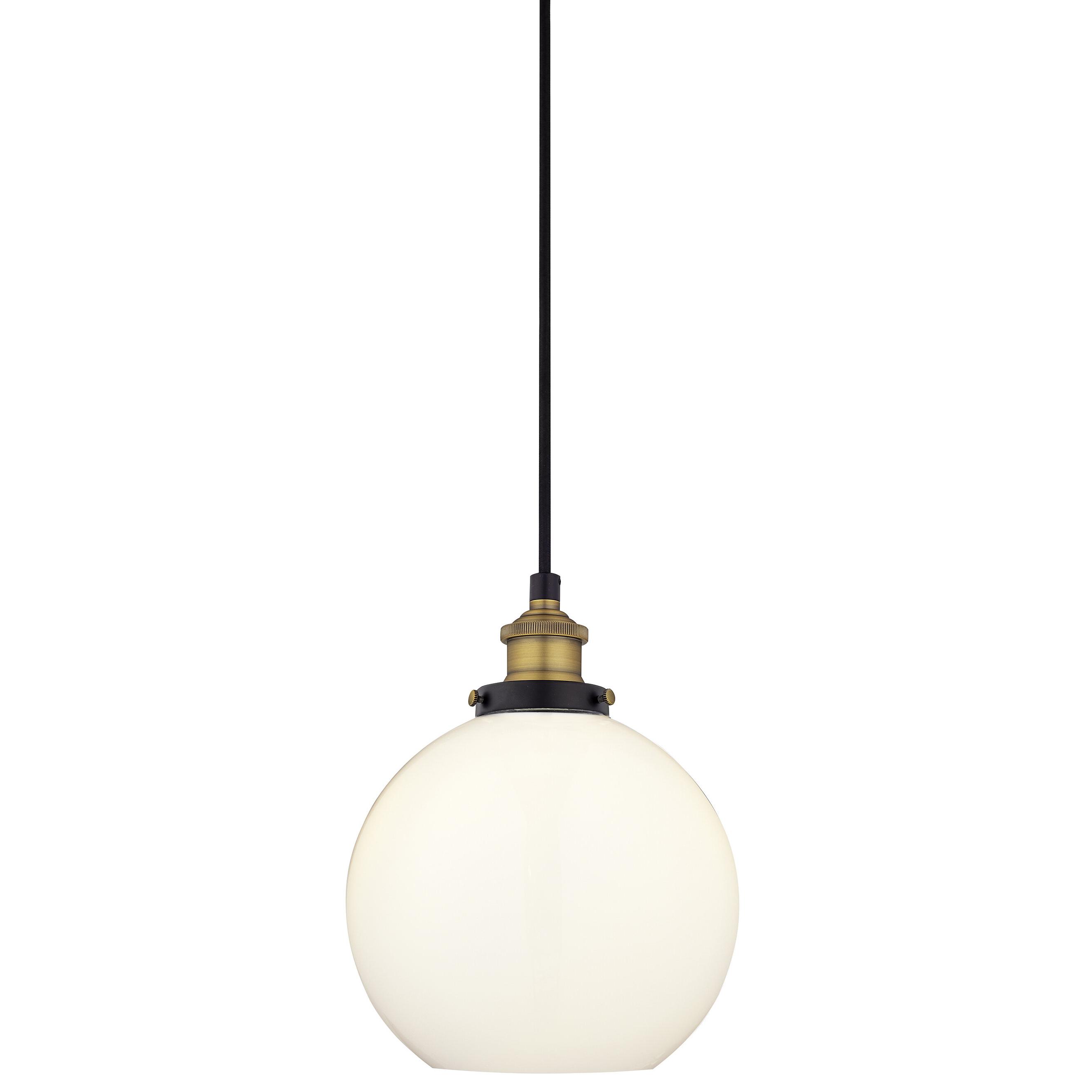 Dunneback 1 Light Single Globe Pendant In Trendy Bautista 1 Light Single Globe Pendants (View 13 of 20)