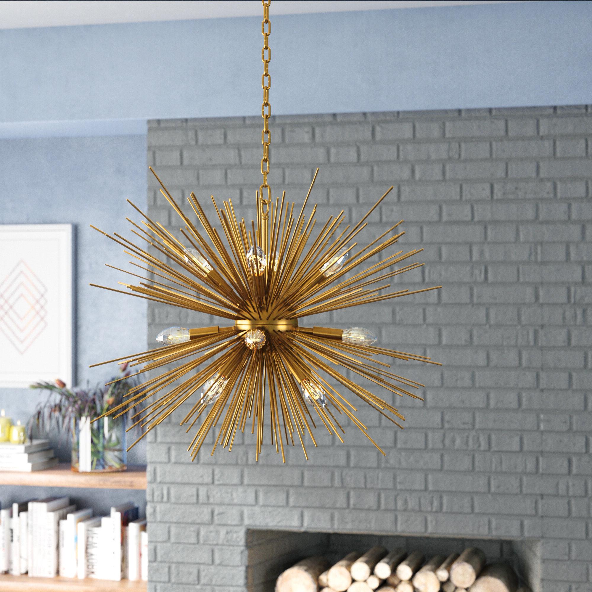 Duron 12 Light Sputnik Chandelier Within Most Recent Nelly 12 Light Sputnik Chandeliers (Gallery 11 of 20)