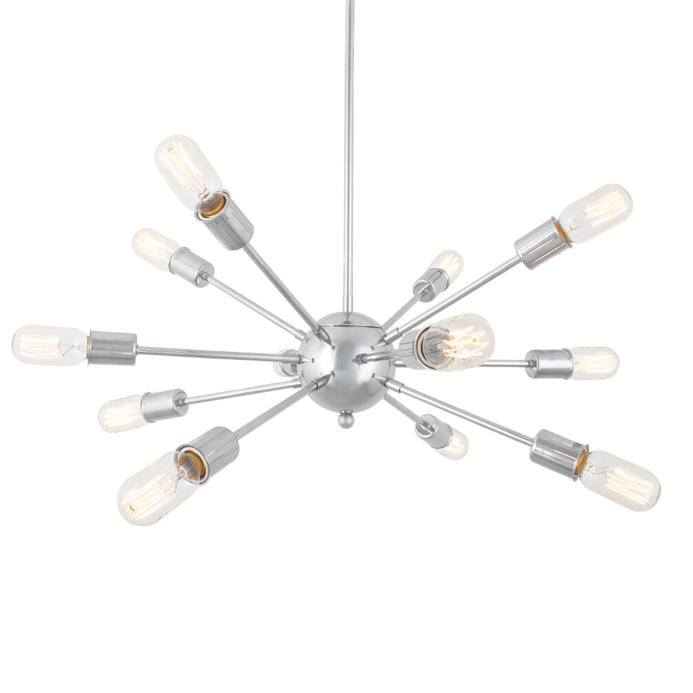 Dyar 12 Light Sputnik Chandelier For Current Vroman 12 Light Sputnik Chandeliers (View 19 of 20)