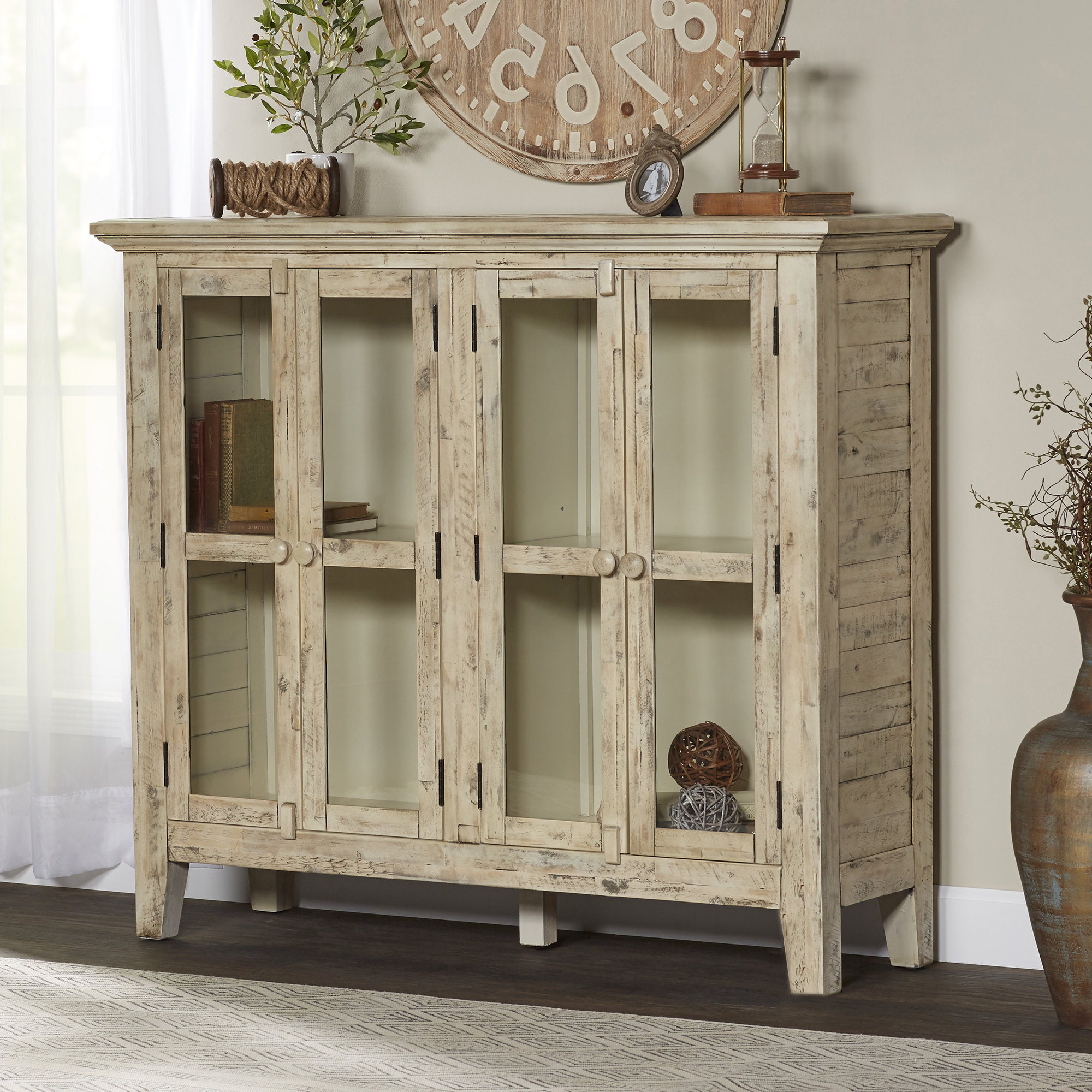 Eau Claire 4 Door Accent Cabinet In Widely Used Eau Claire 6 Door Accent Cabinets (Gallery 6 of 20)