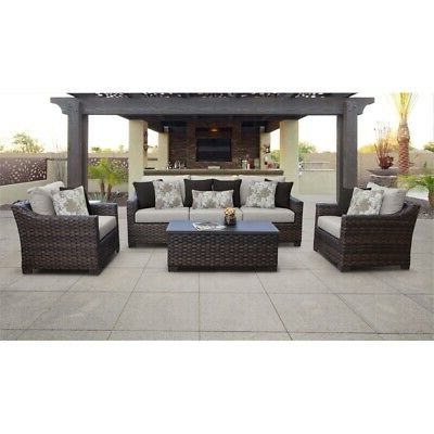 Ebay With Best And Newest Oreland Patio Sofas With Cushions (View 4 of 20)