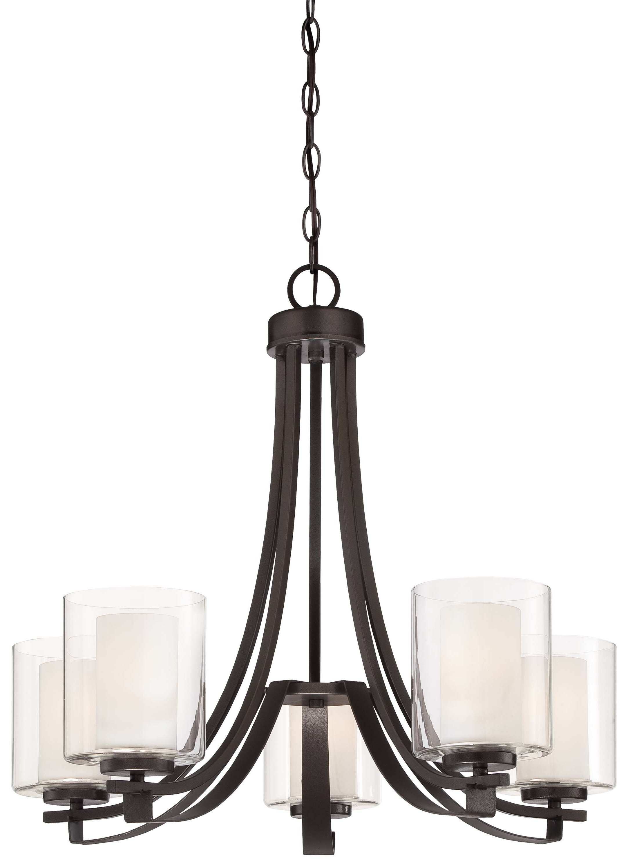 Ebern Designs Demby 5 Light Shaded Chandelier Inside Fashionable Hayden 5 Light Shaded Chandeliers (View 4 of 20)