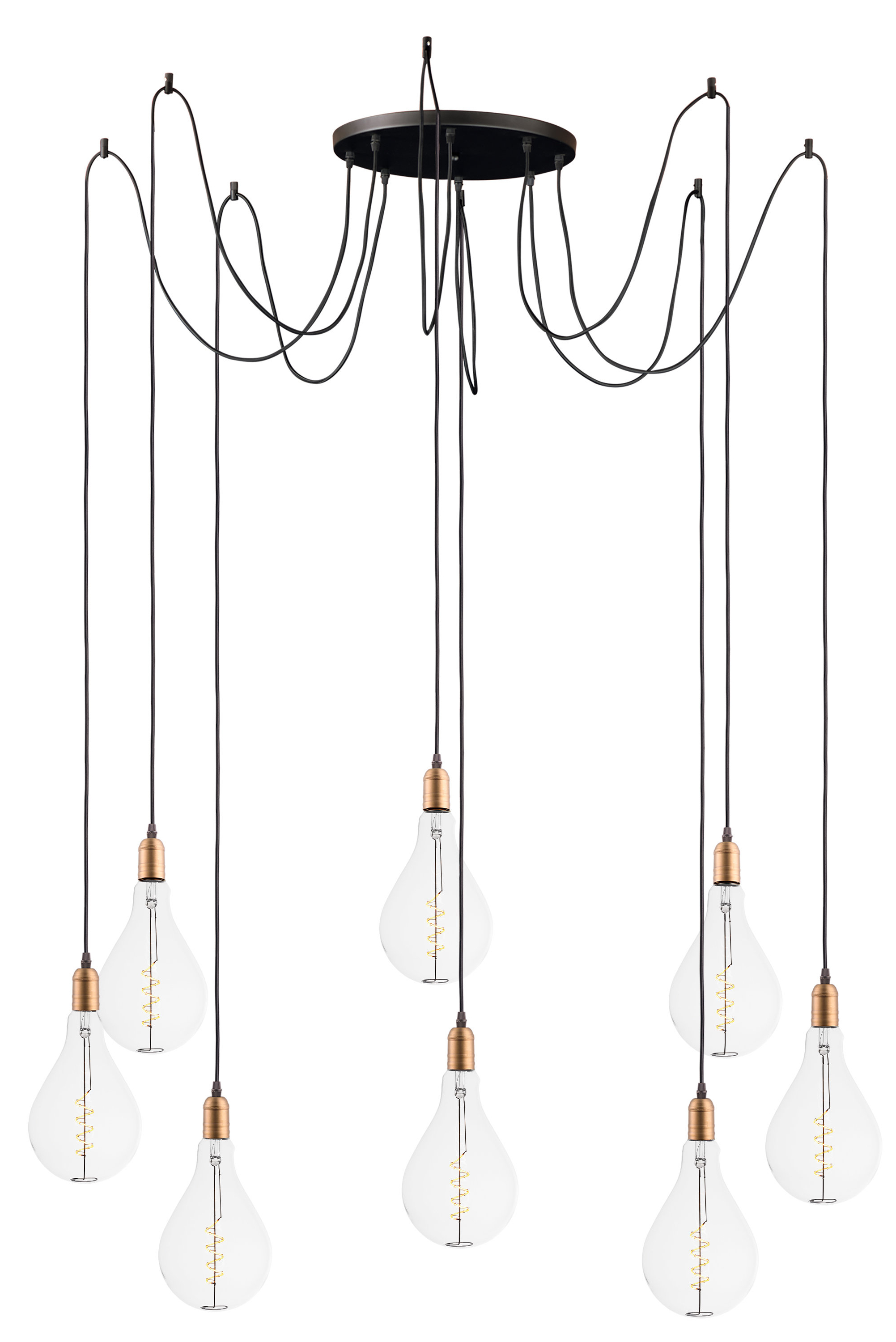 Edgardo 8 Light Cluster Pendant In Most Current Gattilier 3 Light Cluster Pendants (Gallery 6 of 20)