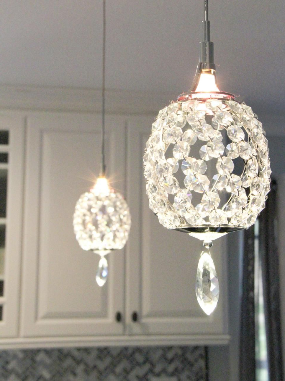 Edmundo 1 Light Unique / Statement Geometric Pendants In Well Liked Crystal Pendant Lights Over A Peninsula Bring A Touch Of (View 3 of 20)