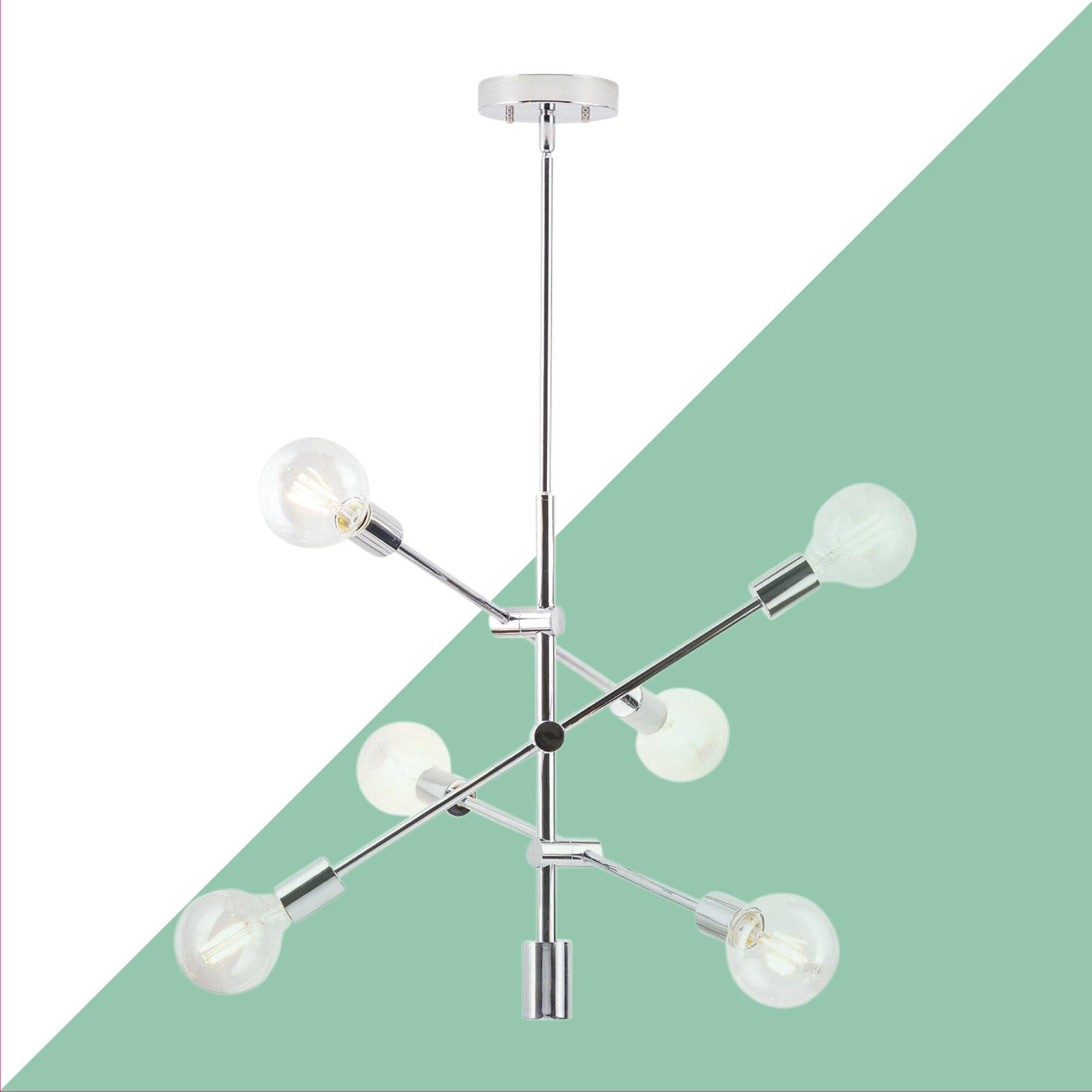 Eladia 6 Light Sputnik Chandelier Pertaining To Most Recently Released Eladia 6 Light Sputnik Chandeliers (View 7 of 20)