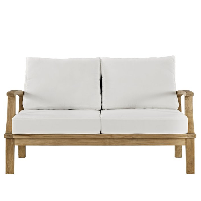 Elaina Teak Loveseat With Cushions For Well Known Montford Teak Loveseats With Cushions (View 5 of 20)