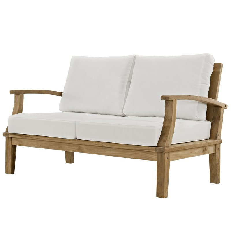 Elaina Teak Loveseats With Cushions Regarding Most Popular Elaina Teak Loveseat With Cushions (View 4 of 20)