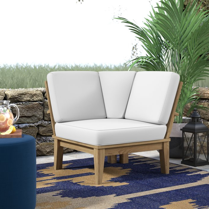 Elaina Teak Loveseats With Cushions Throughout Most Popular Elaina Teak Patio Chair With Cushions (View 9 of 20)