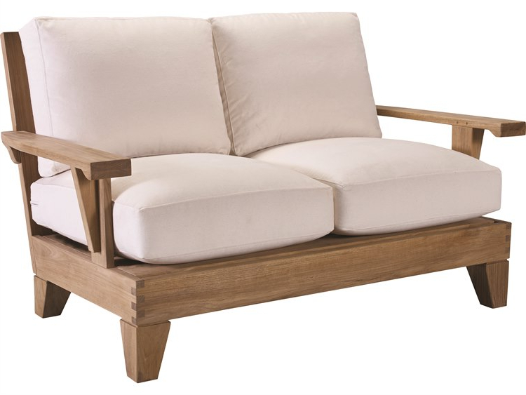 Elaina Teak Loveseats With Cushions With Regard To Well Known Lane Venture Saranac Teak Loveseat (View 15 of 20)