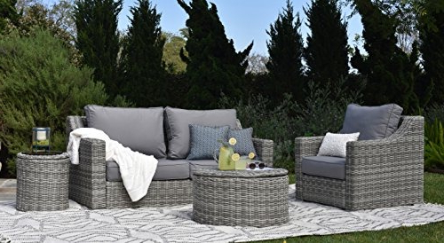 Elle Decor Vallauris Sofa De Mimbre Para Exterior, Sillon, G Intended For Best And Newest Vallauris Sofa With Cushions (View 10 of 20)