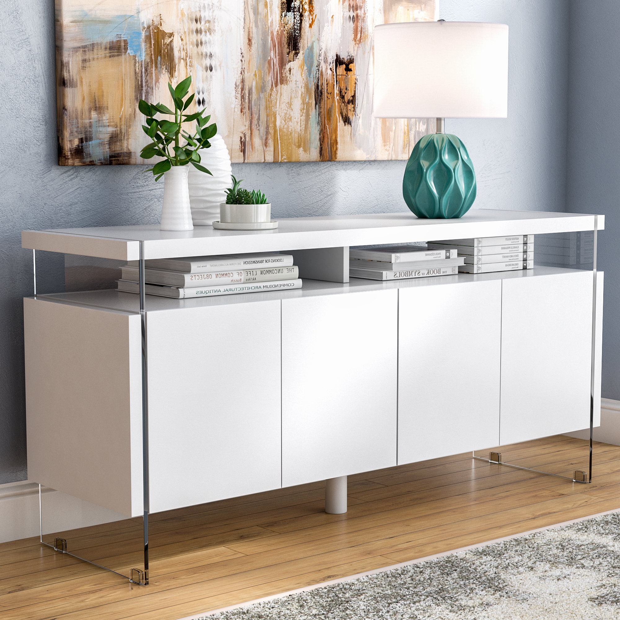Elyza 4 Door Credenza (Gallery 16 of 20)